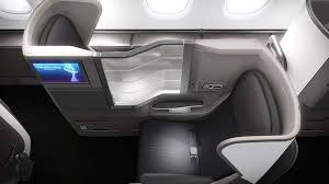 British Airways business class seat on A380