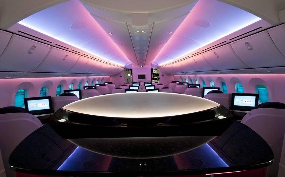 Qatar Airways Dreamliner business class interior