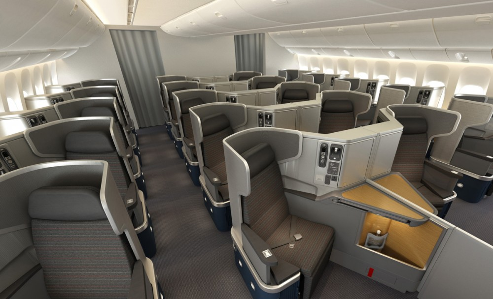 777-300ER Business Class Seating American Airlines