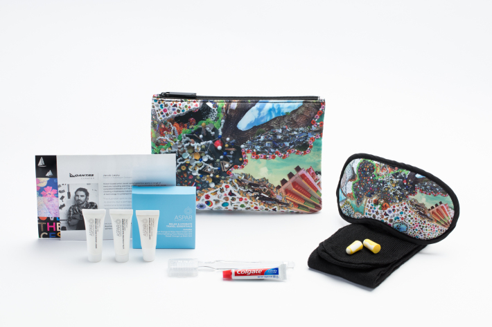 Qantas Australian Business Class Amenity Kits - Jacob Leary Bubblegum Dystopia