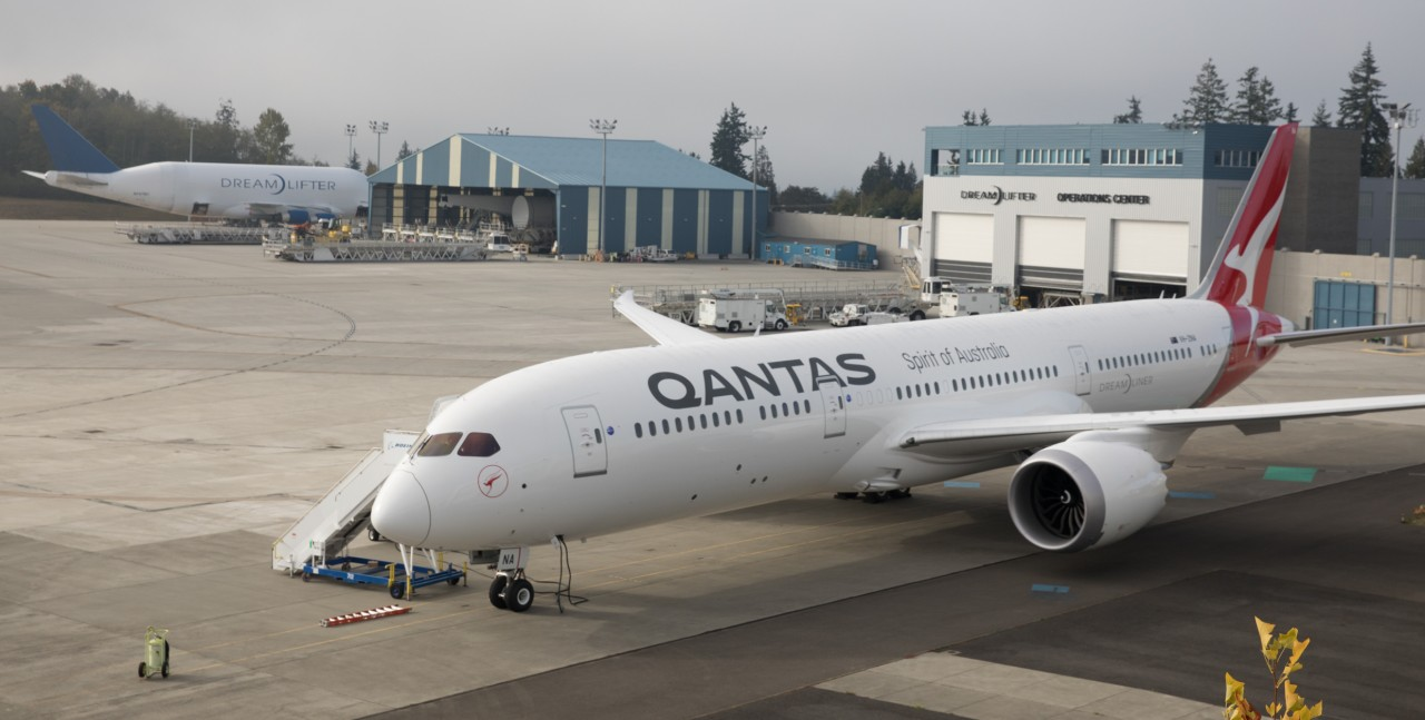 Qantas Dreamliner Reveal