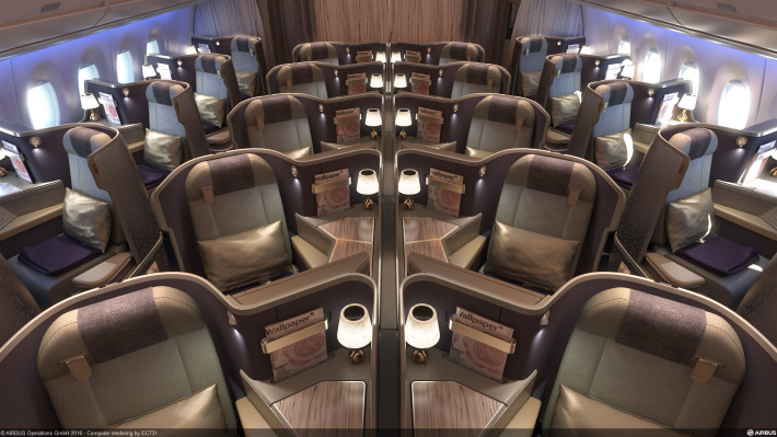 China Airlines A350 Business Class cabin