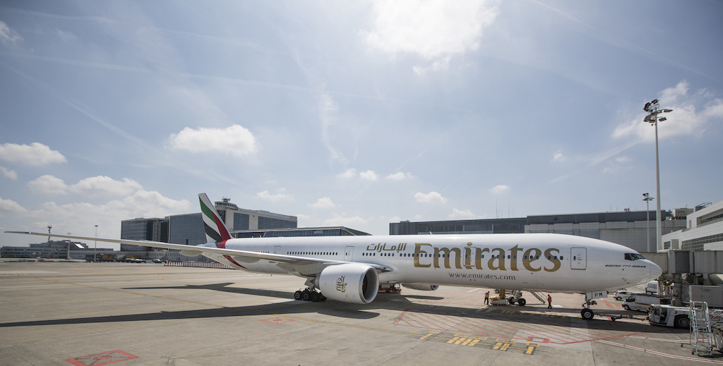 Emirates 777 Brussels Airport