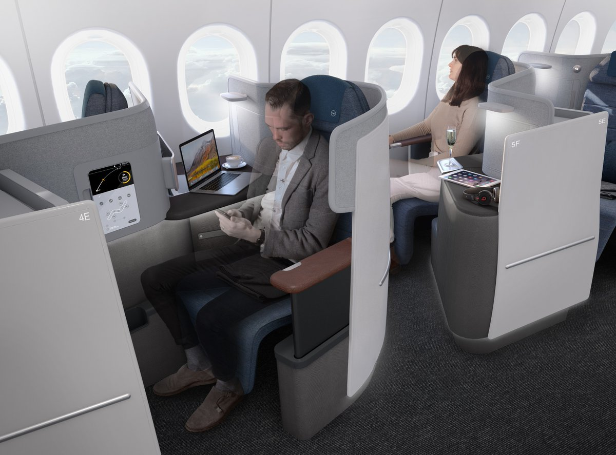 lufthansa gives sneak peak at new business class. Black Bedroom Furniture Sets. Home Design Ideas