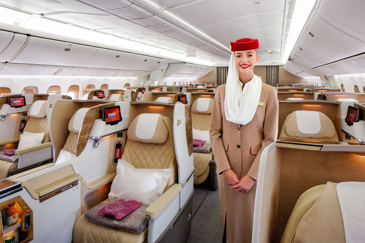 Emirates 777 Spacious Business Class seats